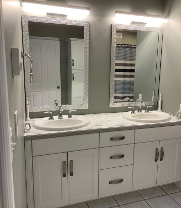 Cabinets Bathroom Comfort by Design Renovation 1 1